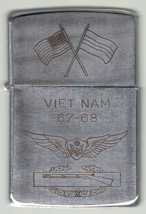 Vietnam 67-68 Flags Aviation Badge + CIB 1